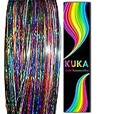 Kuka Hair Tinsel glitter olografico fili professionale Sparkle Tinsel estensioni capelli accessori
