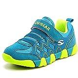 Enfant Chaussures de Sport Course Baskets Basses Sneakers Casual Outdoor Running Tennis Chaussure de Walking Shoes pour Garçon Fille, vert 25