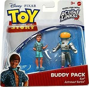 Disney Pixar Toy Story 3 Buddy Pack Ken & Astronaut Barbie Figures by Mattel