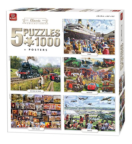 king-5-in-1-classic-collection-jigsaw-puzzles-5-x-1000-pieces-posters-included