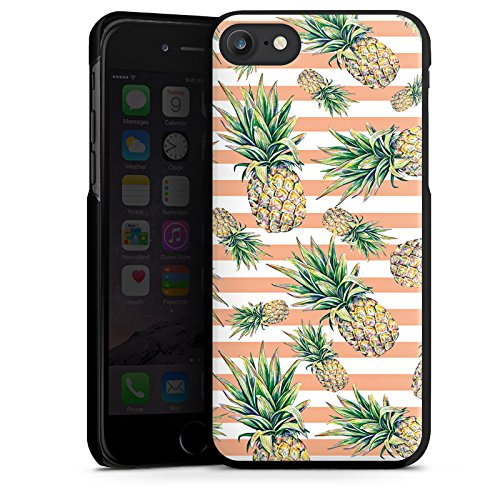 Apple iPhone X Silikon Hülle Case Schutzhülle Ananas Früchte Sommer Hard Case schwarz