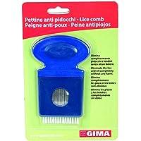 Gima - Pettine Manuale per Pidocchi, adatto per Bambini e Adulti, in Plastica con Denti di Metallo, Metodo Meccanico…