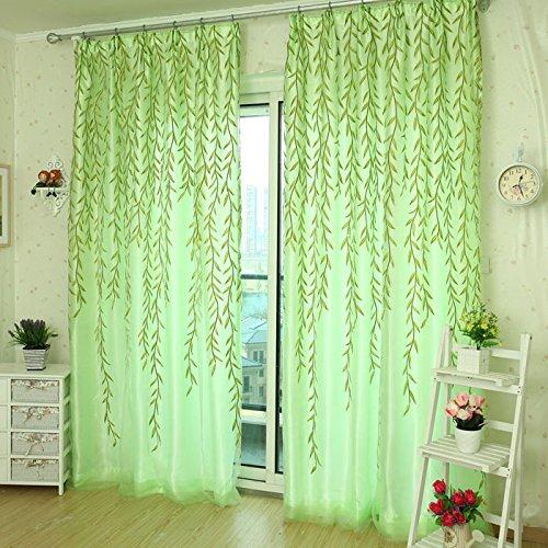 Bovake 1pc willow tulle porta finestra tenda drappo pannello sheer sciarpa mantovane a