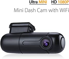 Blueskysea B1W WiFi Mini Dash Cam Car Camera Vehicle Video Driving Recorder 360 Degree Rotatable Lens 1080p 30fps G-Sensor Loop Recording
