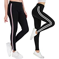 V2 FASHION Women's Multicolor Track Pants Combo Pack of 2 (Free Size:28 to 34)