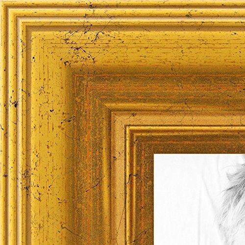 arttoframes 17,8x 78,7cm Folie mit Treppe Holz Bilderrahmen, gold, 17,8x 78,7cm (Diplom-folie)