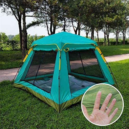GLXQIJ GroßE Pop Up Outdoor Moskitonetz FüR Bett Camping Tragbare Faltbare Bett Zelt Netze Freistehende Kinderbetten Erwachsene One Touch Travel,Blue,210 * 210 * 165CM