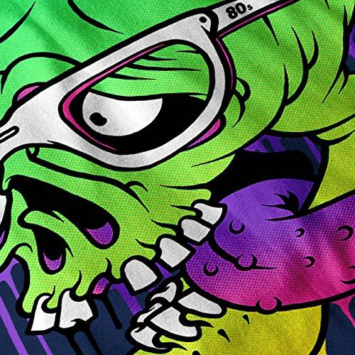 Beute Zombie Schädel Maske Damen Schwarz S-2XL Muskelshirt | Wellcoda Marine