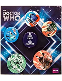 Dr Who Retro Badge Set