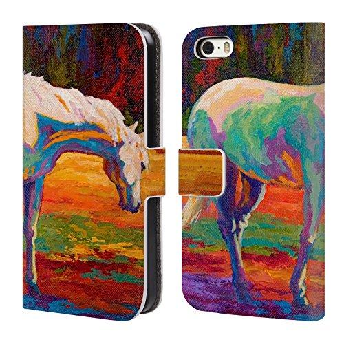 Ufficiale Marion Rose Cavalli Free Range Cavallo Cover a portafoglio in pelle per Apple iPhone 6 Plus / 6s Plus Cavallo Bianco II