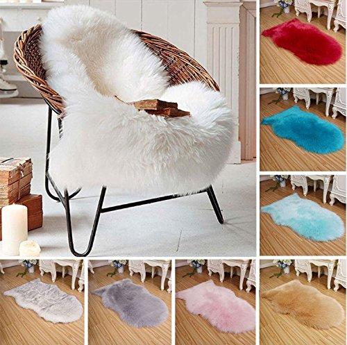 te Teppiche Luxuriöse Nachahmung Wolle Künstliches Schaffell Umfasst Stuhl Wohnzimmer ()