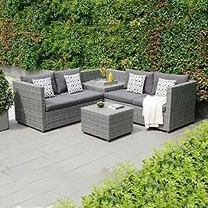 OUTLIV. Gartenlounge Polyrattan Sibuyan 3-tlg Loungemöbel Outdoor Loungegruppe Lounge Set