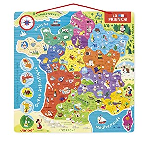 Janod Puzle magnético Mapa de Francia (j05480), Multicolor (Juratoys