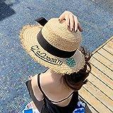 Vfgbdtjn Beanie cap Ski cap Cappello Donna Estate Selvaggia Lafite Cappello di Paglia Visiera Parasole Copertina Cappello da Sole Cappello da Sole (Colore: Beige) per Donne Uomini (Colore : Beige)