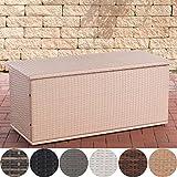 CLP Polyrattan Auflagenbox Comfy l Gartentruhe für Kissen und Auflagen l In Verschiedenen Farben und Größen erhältlich 150, Sand
