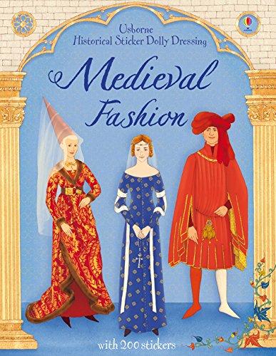Historical Sticker Dolly Dressing Medieval Fashion por Laura Cowan