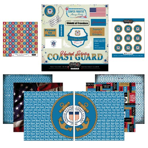 Scrapbook Customs Mottoparty Papier und Aufkleber Scrapbook Kit, Coast Guard (Guard Emblem Coast)