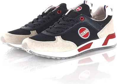 Colmar Scarpe Uomo Sneakers Travis Originals 002 in Pelle Blu TRA-ORI-002