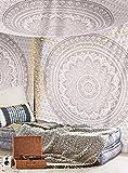 "Grau Ombre Tapestry von JaipurHandloom ""Mandala-Tapisserie, Königin, Multi Color Indian Mandala-Wand-Kunst, Hippie Wandbehang, Bohemian Bedspread"