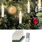 30 LED Weihnachtsbaumkerzen ✔ mit Fernbedienung Warmweiß ✔ Dimmfunktion ✔ Weihnachtskerzen Weihnachtskdekoration ✔ Kabellos ✔ Timerfunktion Weihnachtsbaumbeleuchtung ✔ Modellauswahl