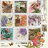 20serviettes Napkins 33x 33cm Table packg. serviettage style vintage Stamps...