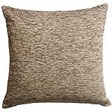 """Ideal Textiles, Luxury Cushion Covers, Plain Chenille Cushion Cover, 22"""" x 22"""", 55cm x 55cm (Natural)"""