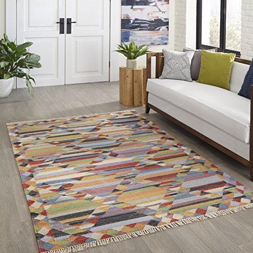 momeni Teppiche caravcar-4mti2030Caravan Collection, 100% Wolle handgewebt übergangsgebiet Teppich, 2'x 3', Multicolor, Wolle, Multi, 2'3