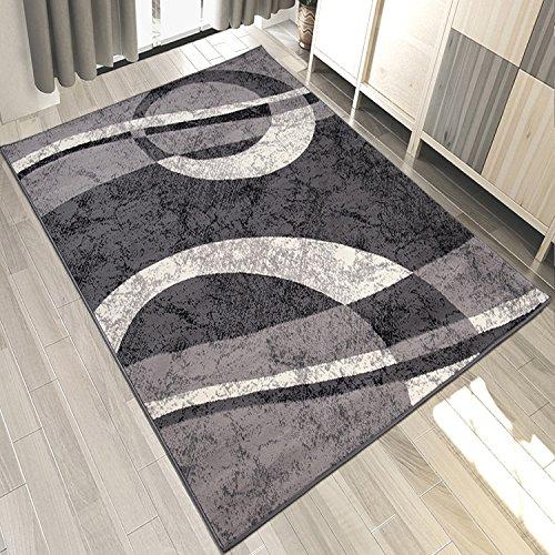 Carpeto Designer Teppich Modern Kreis Muster Meliert In Grau - ÖKO Tex (250 x 350 cm) -