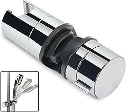 Handbrause Halterung, ABS 18-25 mm Verstellbar Brausehalter Duschhalterung, 360° drehbar, Verchromt (Silber)