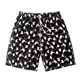 HAIYOUVK Couples Swimwear One-Piece Dress-Style Boxer Conservative Slimming Concealer Small Chest Gathering Hot Springs Swimsuit Women'S And Men'S Beach Pants,Men'S Beach Pants 2Xl (145-165 Pounds),Black Ginkgo Beach Pants,Male 2Xl (145-165 Kg),Black Ginkgo