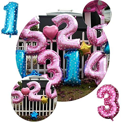 Bazaar 40 Zoll Aluminiumfolie Anzahl Ballon Herz Form Muster Hochzeit Valentine Party Dekoration