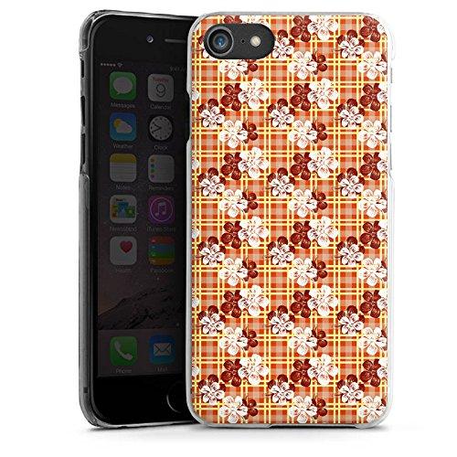 Apple iPhone X Silikon Hülle Case Schutzhülle Blumen Surfen Karomuster Hawaii Hard Case transparent