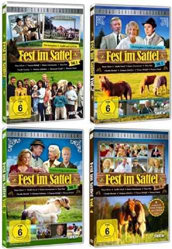 Fest im Sattel Staffel / Vol 1+2+3+4 die komplette TV Serie auf 8 DVDs - Reiten Fest