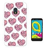 002053 - Cool Cute Swirl Love Hearts Collage Design alcatel U5 4G Fashion Trend Silikon Hülle Schutzhülle Schutzcase G