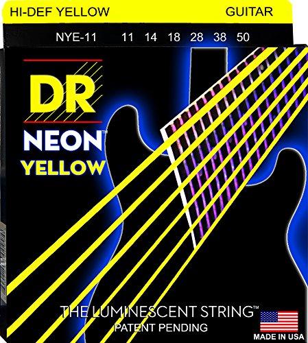 Dr Strings Neon 11-50Gitarrensaiten für E-Gitarre, Gelb