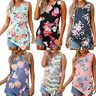 Women's Tops, OverDose Summer Floral Sleeveless Round Neck T-shirt Tank Top Blouse 61fZujwZ2lL
