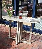 Destiny Klapptisch Tisch Messina Balcony Akazie Vintage Grau Hartholz Tisch Balkontisch 120 x 60 cm
