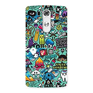 Cute Premier candy Multicolor Back Case Cover for LG G3 Beat