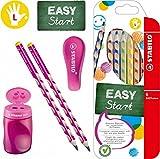 Stabilo EASY-Starter-Set L1 pink mit Bleistiften, Buntstiften, Dosenspitzer und Radierer