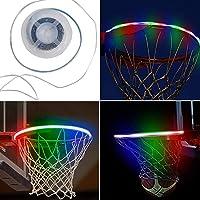 Cicony LED-Basketballkorb, solarbetrieben, Basketball-Rand, LED-Licht, Basketball-Zubehör, für Erwachsene und Kinder