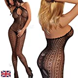 CLEARANCE Sexy Fishnet Open Crotch Bodystocking S M UK 6-14
