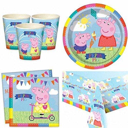 verwikkeld moeten zijn–Peppa Pig–feestservies Pack voor 8 personen