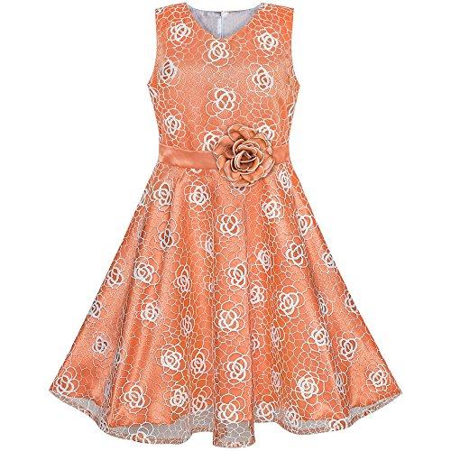 eid Blume Orange Rose Hochzeit Party Geburtstag Gr. 158 ()