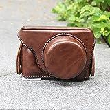 Faux Cuir Étui pour appareil photo Housse de protection Pour Panasonic GF8 GF7 - Yogogo (Café)