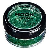 Fein Glitterstreuer von Moon Glitter - 100% kosmetische Glitzer für Gesicht, Körper, Nägel, Haare und Lippen - 5g - Grün