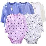 Bebé Body Pack de 5 - Mono Niñas Mameluco Manga Corta para Bebé-Niños Trajes Baño Ropa de Verano Algodón Pelele