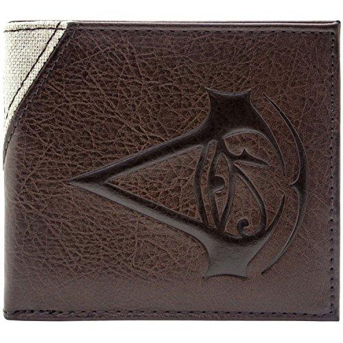 Assassins Creed Origins Bayek genähtes Zeichen Braun Portemonnaie Geldbörse