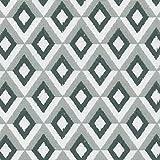 Tela KAPPA (gris antracita, gris claro & blanco) - 100% algodón suave | ancho: 140 cm (por metro lineal)*