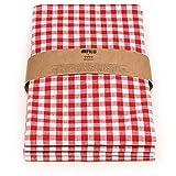 FILU Servietten (8 Stück, Rot/Weiß kariert) 45 x 45 cm (Farbe und Design wählbar) Stoffserviette aus 100% Baumwolle im skandinavischen Landhausstil