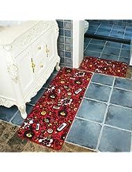 CHENGYI Alfombra La puerta Pasillo Alfombras de puerta Otomanos de cocina Cuarto de baño Alfombra antideslizante Tiras largas Absorción de agua Hogar Alfombrillas de baño Alfombrillas de tierra ( Tamaño : 45*120cm )